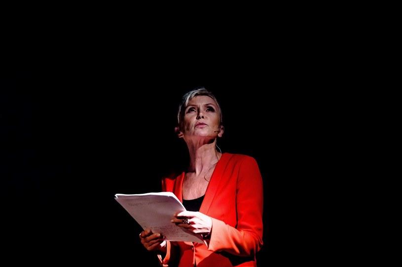 Ewa Błaszczyk przygotowuje się do monodramu o Orianie Fallaci, fot. K. Bieliński / STUDIO teatrgaleria /materiały prasowe