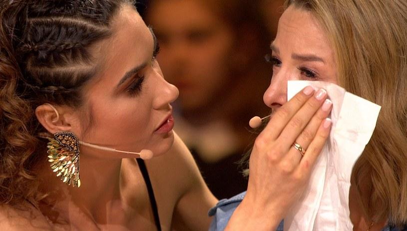 Ewa Chodakowska płacze w programie /TVP /materiały promocyjne