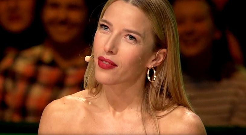 """Ewa Chodakowska w programie """"Dance, Dance, Dance"""" (screen z TVP) /materiały prasowe"""