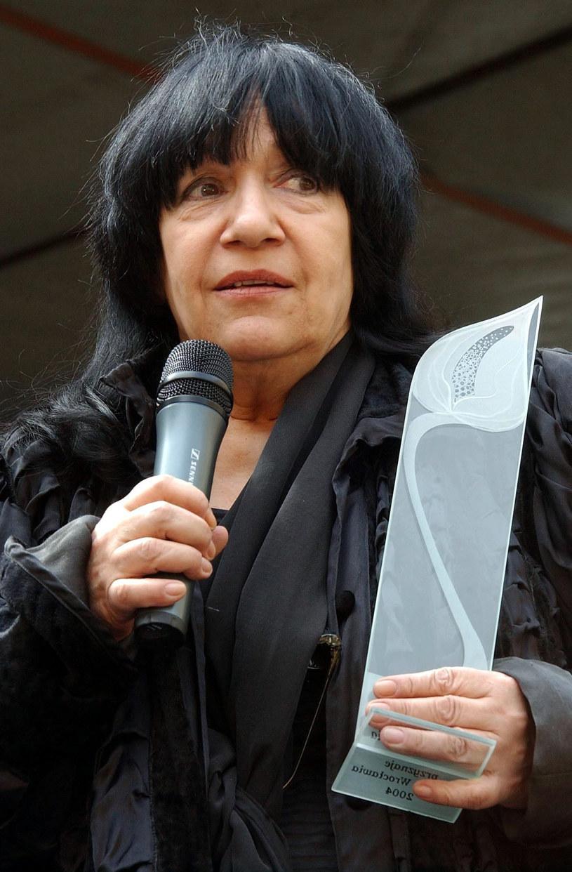 Ewa Demarczyk, 2004 r. /Maciej Śmiarowski /Reporter