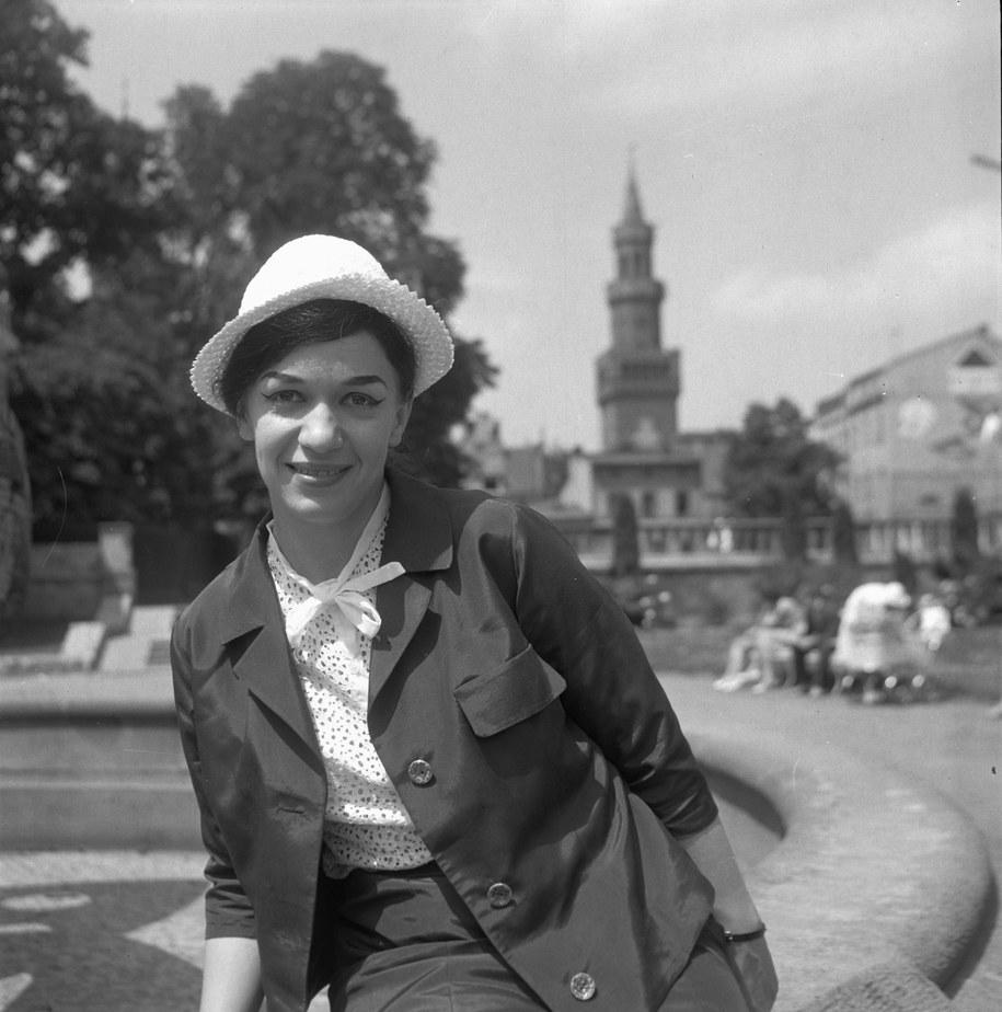 Ewa Demarczyk na festiwalu w Opolu w 1963 roku /Ryszard Okoński /PAP