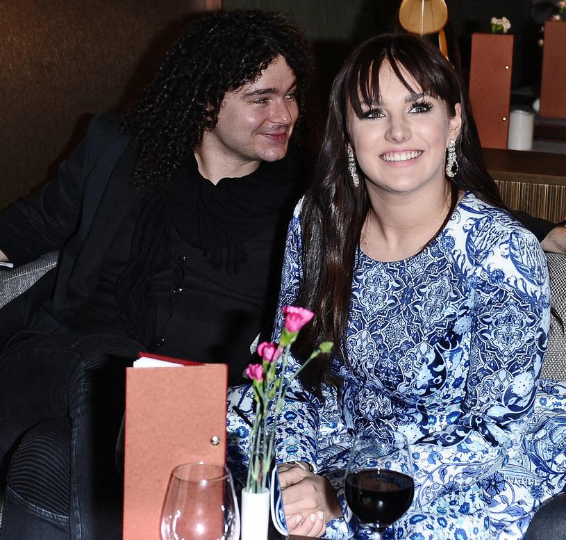 Ewa Farna z mężem /Andras Szilagyi /MWMedia