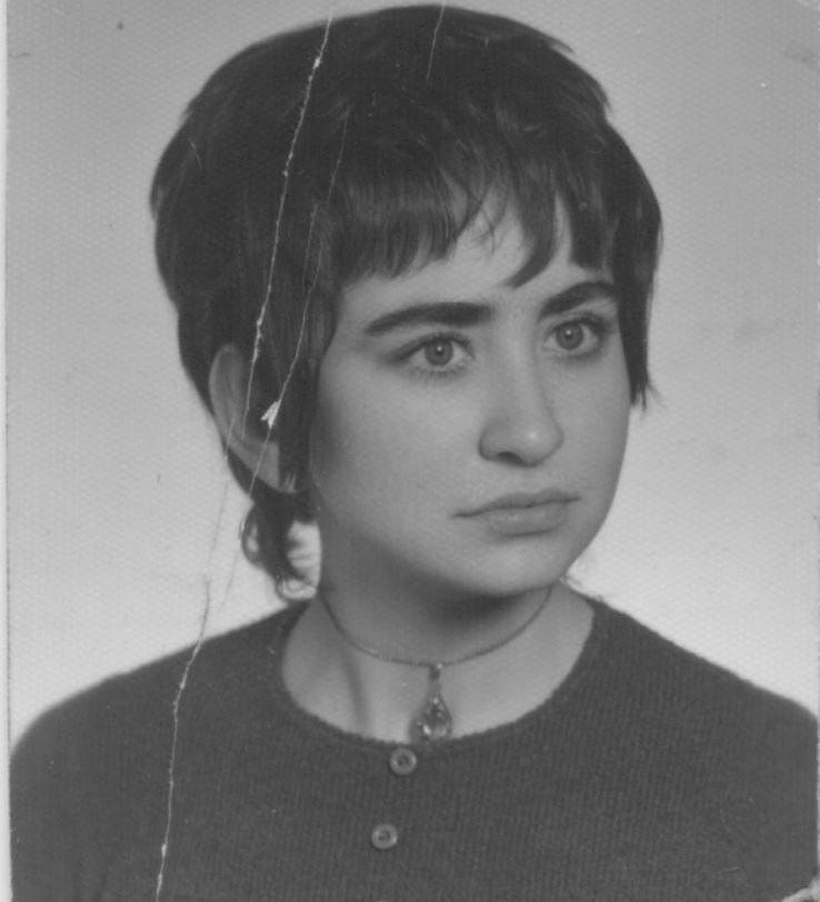 Ewa Juszko-Pałubska , lata 70. XX w._archiwum rodzinne /