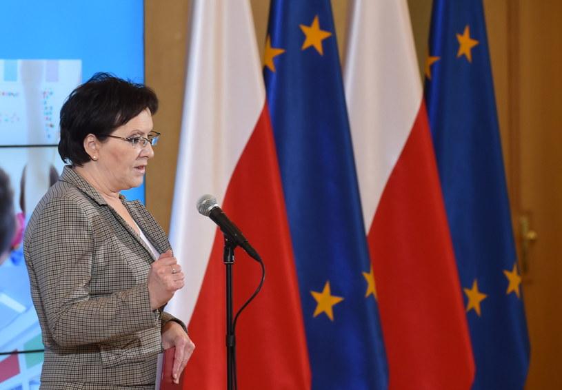 Ewa Kopacz dziś w resorcie finansów /Radek Pietruszka /PAP