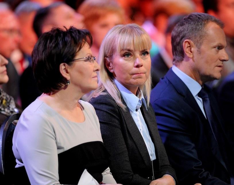 Ewa Kopacz, Elżbieta Bieńkowska i Donald Tusk /Piotr Bławicki /East News