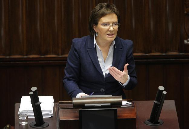 Ewa Kopacz, fot. Bartłomiej Zborowski /PAP
