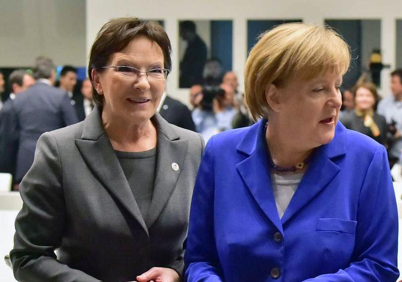 Ewa Kopacz i Angela Merkel /AFP