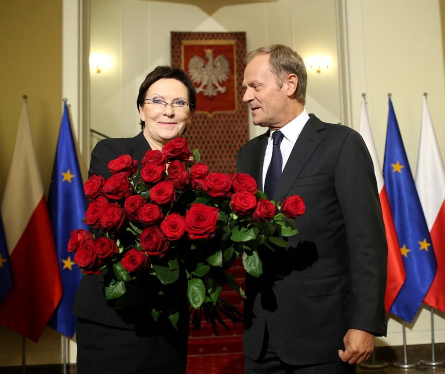 Ewa Kopacz i Donald Tusk w KPRM /Leszek Szymański /RMF FM