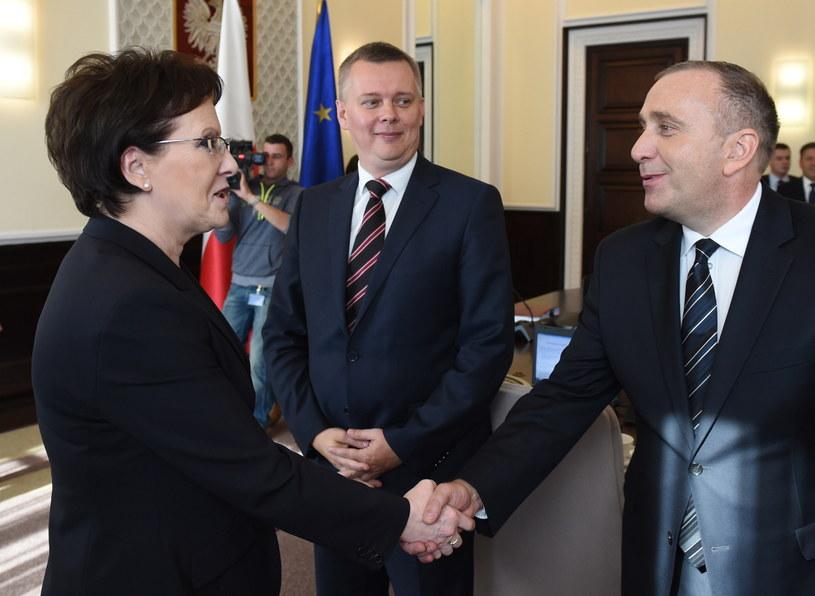 Ewa Kopacz i Grzegorz Schetyna /Radek Pietruszka /PAP