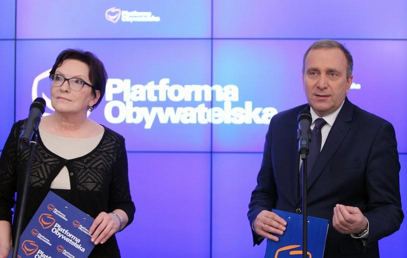 Ewa Kopacz i Grzegorz Schetyna /Stanisław Kowalczuk /East News