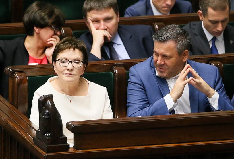 Ewa Kopacz i Janusz Piechociński w czasie ostatniego posiedzenia Sejmu /Paweł Supernak /PAP