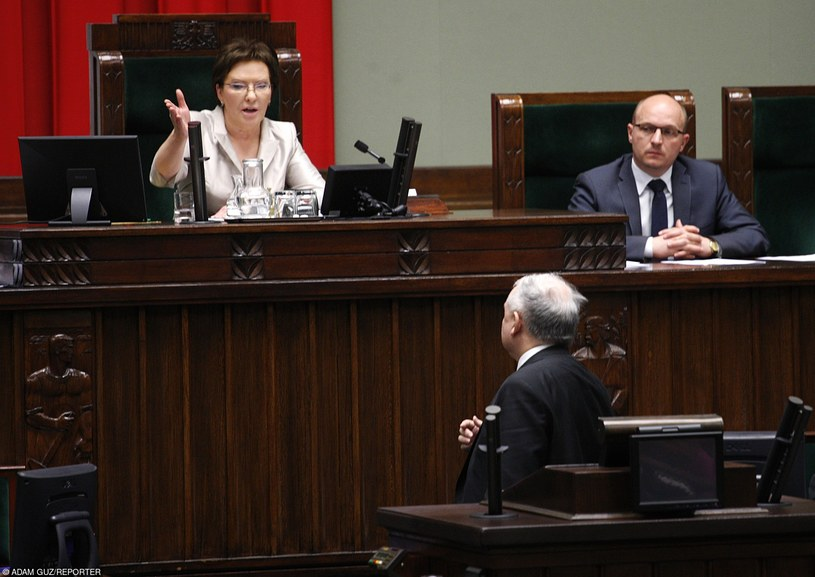 Ewa Kopacz i Jarosław Kaczyński /Adam Guz /Reporter