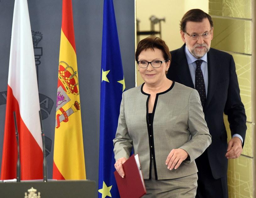 Ewa Kopacz i premier Hiszpanii Mariano Rajoy /Radek Pietruszka /PAP