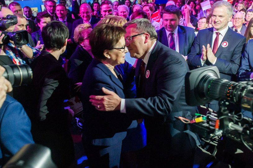 Ewa Kopacz i prezydent Bronisław Komorowski w czasie konwencji w Sopocie /Mateusz Ochocki /East News