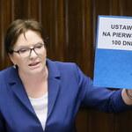 Ewa Kopacz: Jeśli odmówią, to znaczy, że stchórzyli