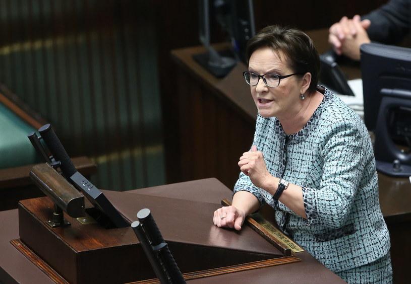 Ewa Kopacz na sejmowej mównicy /Rafał Guz /PAP
