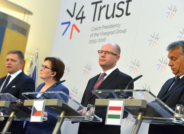 Ewa Kopacz na spotkaniu Grupy Wyszehradzkiej, 4.09.2115 /AFP /East News