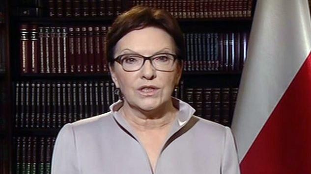 """Ewa Kopacz o uchodźcach: """"Nie możemy udawać, że nas to nie dotyczy"""" /TVP"""