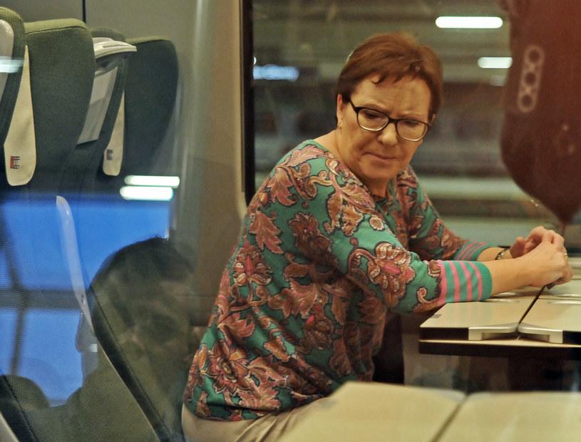 Ewa Kopacz objechała Polskę na pokładzie Pendolino w trakcie kampanii. Platforma Obywatelska przegrała jednak wybory /Marek Lasyk  /Reporter