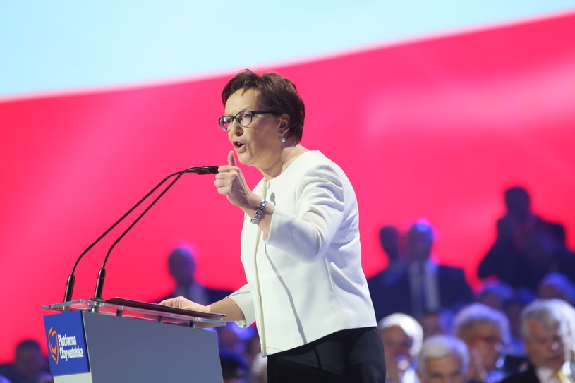 Ewa Kopacz podczas konwencji /Leszek Szymański /PAP
