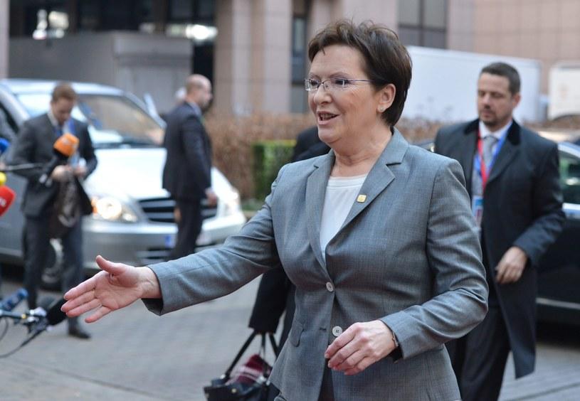 Ewa Kopacz w Brukseli /PAP/EPA