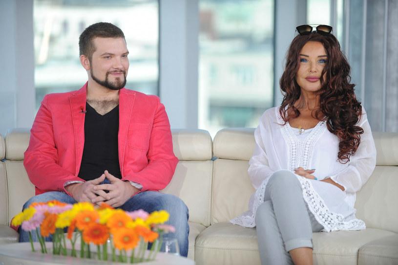 Ewa Minge z synem Oskarem /Bartosz Krupa /East News