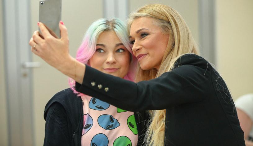 Ewa Pacuła z córką Nicole /Kamil Piklikiewicz /East News