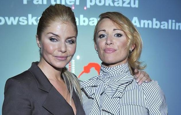 Ewa Szabatin i Ela Dąbrowska na pokazie autorskiej kolekcji /fot.Jacek Kurnikowski  /AKPA