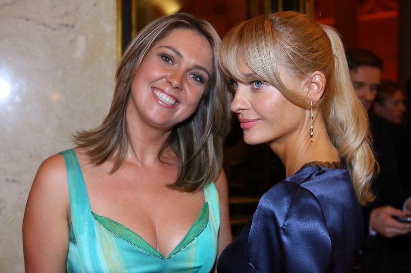 Ewa Wachowicz i  Aneta Kręglicka - finał Miss Polonia 2006 /AKPA
