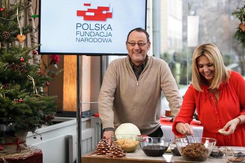 """Ewa Wachowicz i Jean Reno. Projekt """"100 x 100"""". Kraków /Mietek Małek One Step Studio /materiały prasowe"""