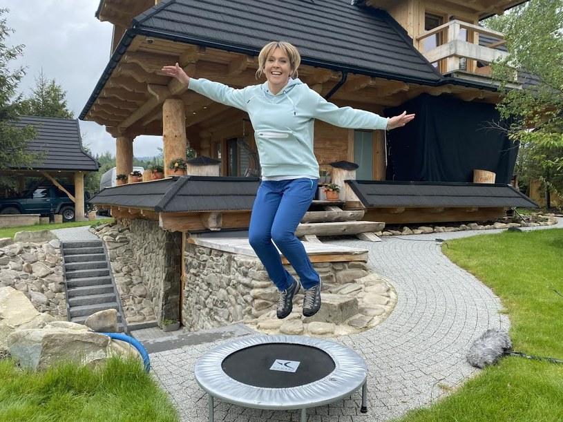 Ewa Wachowicz uwielbia skakanie na trampolinie /archiwum prywatne