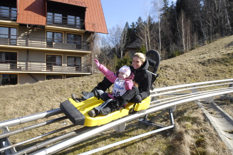 Ewa Wachowicz z córką, 2008 rok /Mikulski /AKPA