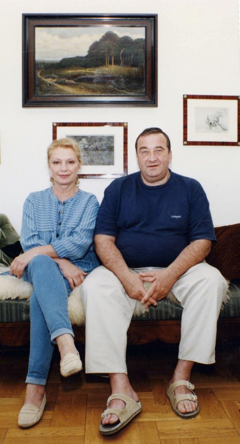 Ewa Wiśniewska i Krzysztof Kowalewski w 1997 roku /Zenon Zyburtowicz /East News
