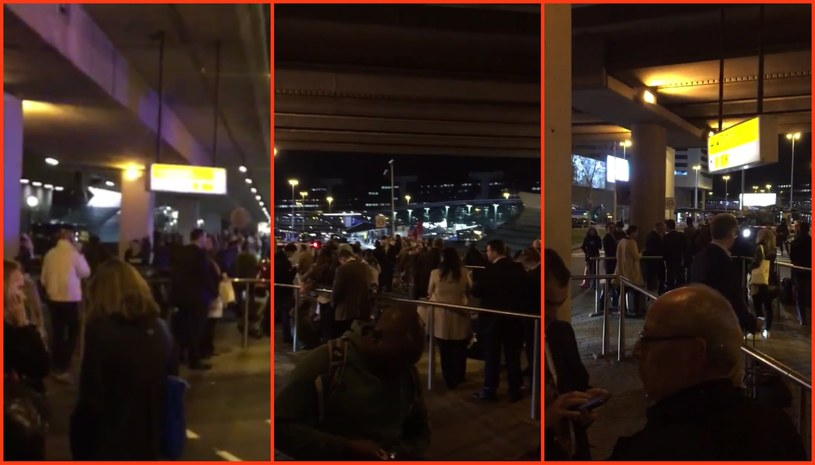 Ewakuacja lotniska w Amsterdamie /Twitter