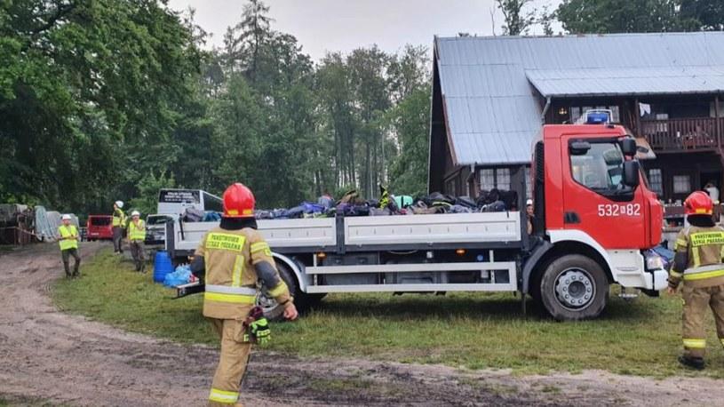 Ewakuacja obozu w Wenecji /PSP Ostróda /