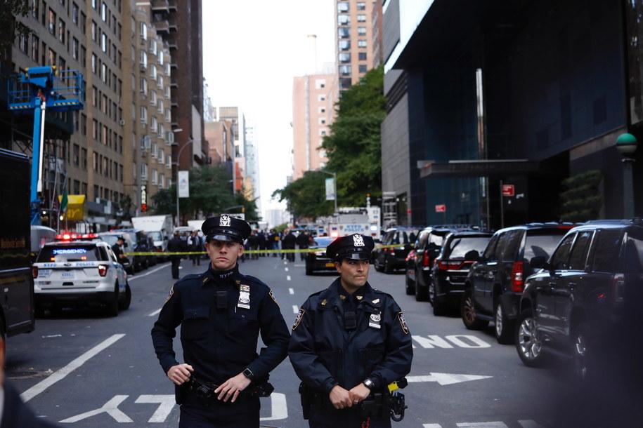Ewakuacja Time Warner Center w Nowym Jorku /JUSTIN LANE /PAP/EPA
