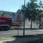 Ewakuacja w centrum Płocka. Przyczyną uszkodzony gazociąg