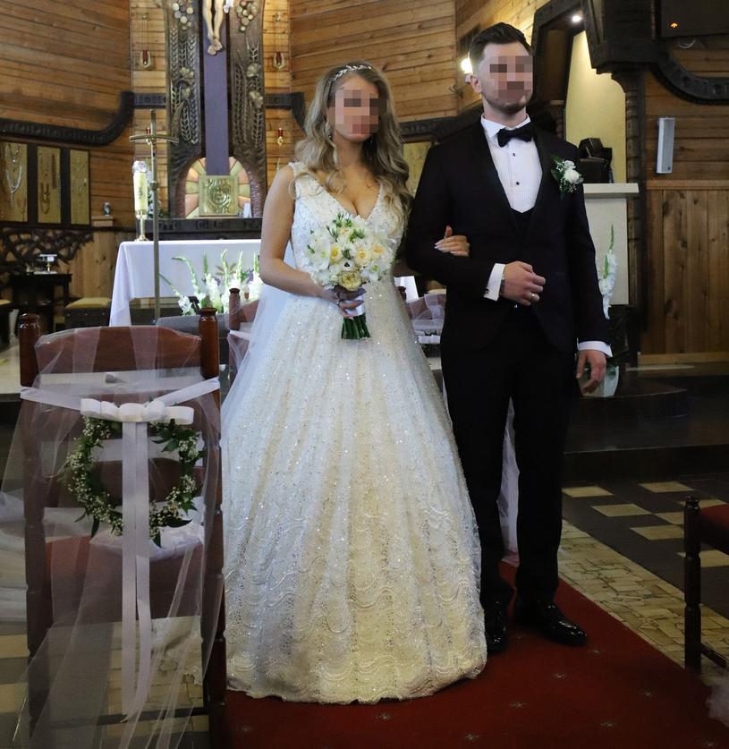 Ewelina i Daniel w dniu ślubu /Anatol Chomicz /East News