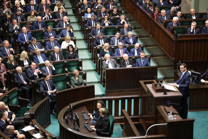 Expose premiera Mateusza Morawieckiego /Piotr Molecki /East News