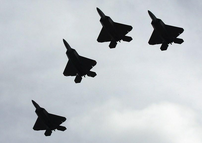 """F-22 swój """"chrzest bojowy"""" przeszedł podczas opercji w Syrii /AFP"""