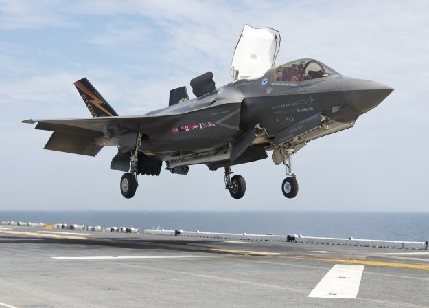 F-35B.   Fot. U.S. Navy photo courtesy of Lockheed Martin by Andy Wolfe/Released)/Released /materiały prasowe