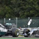 F1: Będzie kara dla Rosberga za kolizję z Hamiltonem