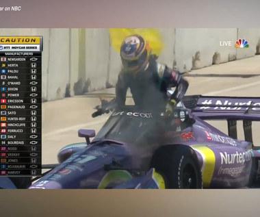 F1. Bolid znów w ogniu! Kolejny pech Romaina Grosjeana. Wideo