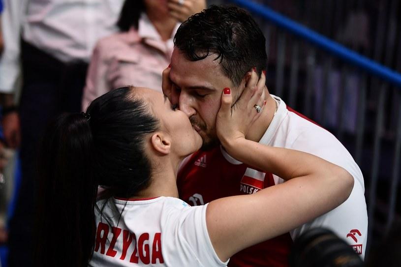 Fabian Drzyzga z żoną /MARCO BERTORELLO /East News