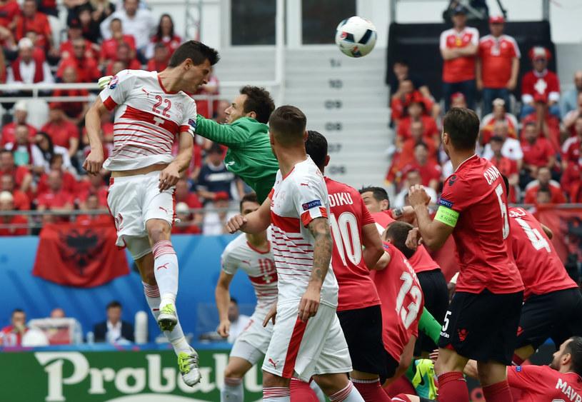 Fabian Schaer zdobywa bramkę dla Szwajcarii /AFP
