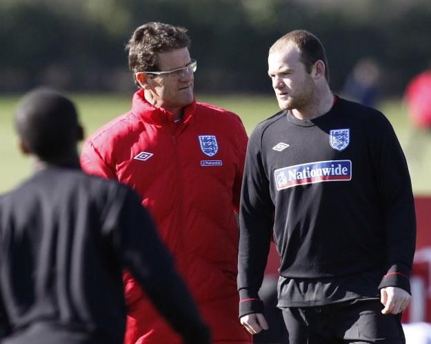 Fabio Capello i Wayne Rooney /AFP