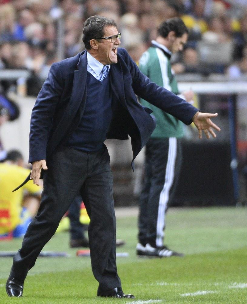 Fabio Capello w akcji /AFP