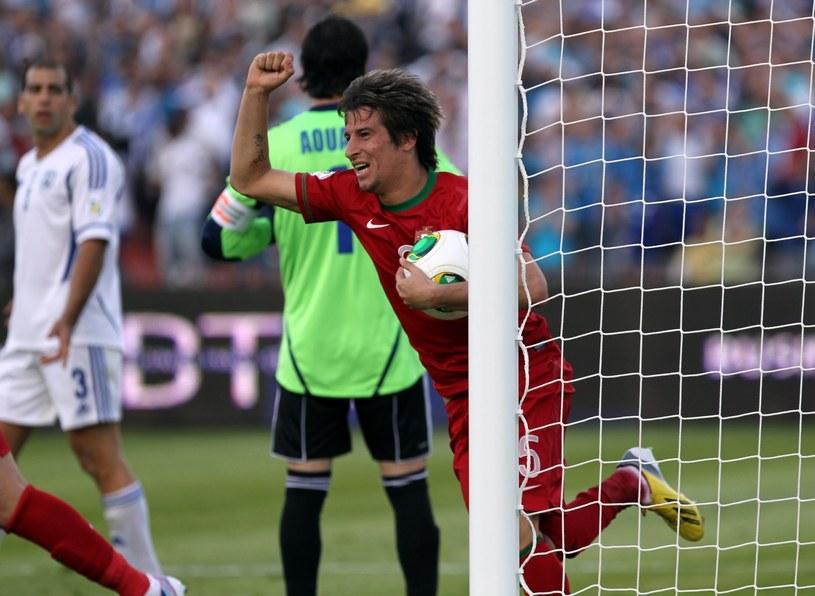 Fabio Coentrao uratował punkt Portugalczykom w meczu z Izraelem /PAP/EPA