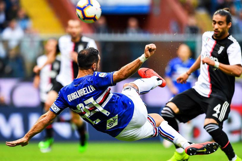 Fabio Quagliarella w meczu z Juventusem /SIMONE ARVEDA /PAP/EPA