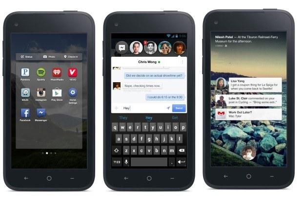 Facebook Home w pełnej krasie (od lewej: Launcher, Chat heads i Notifications) /materiały prasowe